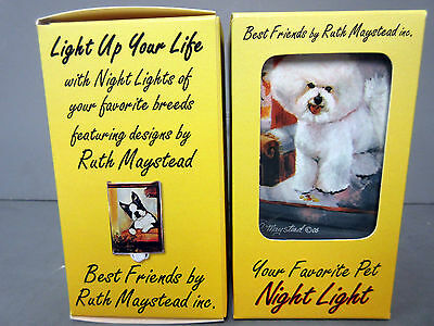 New Bichon Frise White Dog Night Light Set 2 Lights Pet Dogs Ruth Maystead