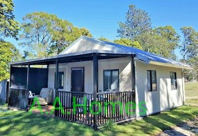 Angeli 37m² Relocatable 2 bedroom folding Granny Flat with Gable pitched Roof.