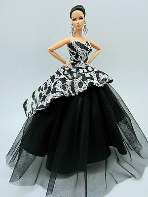 Designer Basic Silkstone Barbie Fashion Royalty Candi Evening Dress Outfit Gown