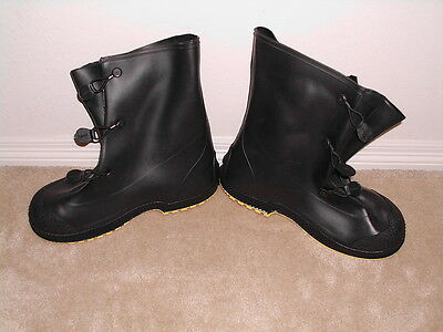 SERVUS RUBBER PVC OVERBOOTS SUPER FIT LARGE SIZE 11-13 BOOTS OVER FREE SHIP usa