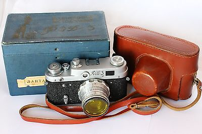 FED-3 Type-A + Industar-26m USSR Rangefinder Camera with BOX. Excellent!