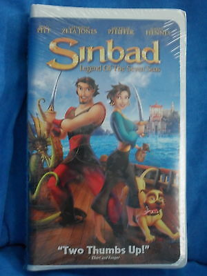 NEW Video Sinbad Legend of the Seven Seas Brad Pitt VHS Rated PG