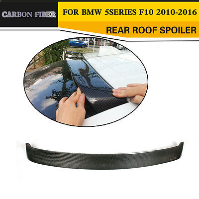 Carbon Fiber Rear Roof Spoiler Race Wing Top Lip Fit For BMW F10 Saloon F10 M5