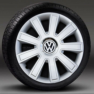 """Ful set 15"""" Silver wheel trims, Hub Caps, Covers to fit Vw Golf,Polo,Caddy"""