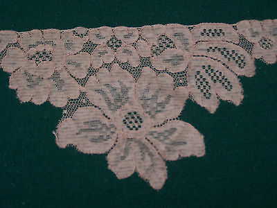SPECTACULAR VINTAGE WIDE ALENCON LACE, ROSE MOTIF, NEVER USED, c1940