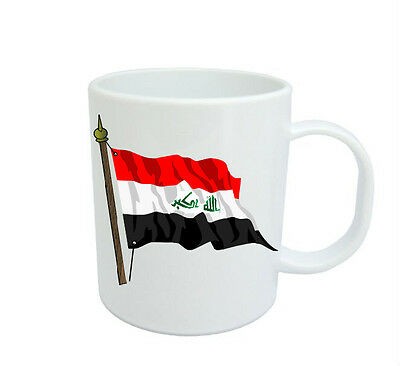 Iraqi Flag  Coffee Mug Free Personalisation Iraq