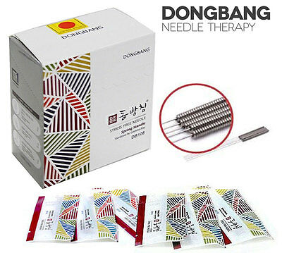 New DongBang Disposable Acupuncture Needle 1000pcs Spring Handle Orient Medicine