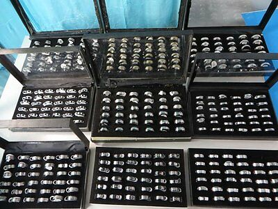 *US Seller*100 rings @40 cents/pc Wholesale men's jewelry stainless steel rings
