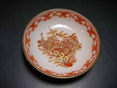VINTAGE JAPANESE PORCELAIN WARE & BRASS T.F.F. BOWL HONG KONG HAND DECORATED TWO