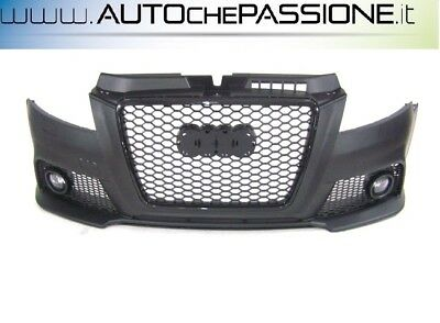 Paraurti anteriore Audi A3 3/5 porte completo ABS S3-Look griglia RS restyling