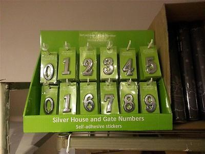 110 x Wholesale Joblot Self-adhesive Silver House Hotel Room Front Door Number