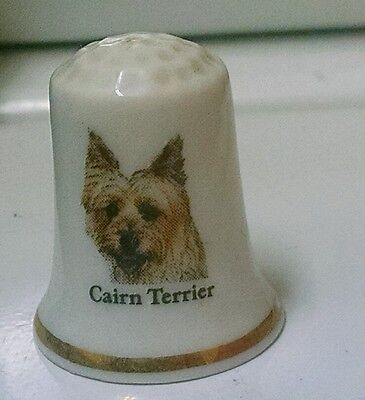 Cairn Terrier Bone China Thimble New Free Shipping