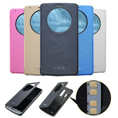 Quick Circle Smart Window View Slim Wallet Flip Smart Case Cover for LG G3 UK