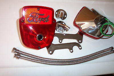 F100 ford truck tail light kit, all stainless,with two right lights, new.