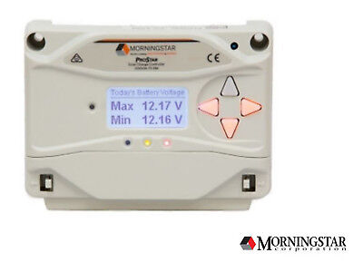 Morningstar ProStar PS-15M PWM 15A Charge Controller with Display 12/24V GEN3