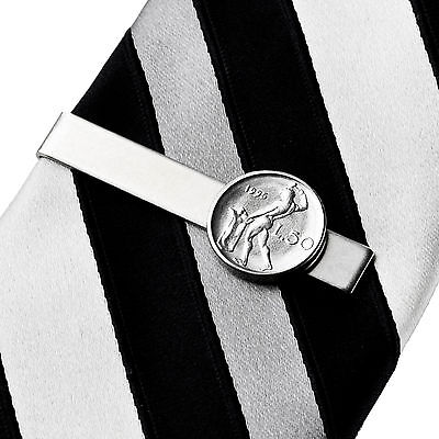 Italy Coin Tie Clip - Tie Bar - Tie Clasp - Business Gift - Handmade - Gift Box