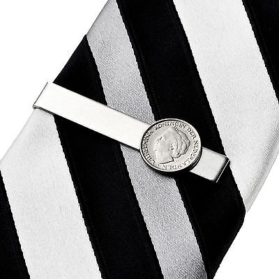 Netherlands Coin Tie Clip - Tie Clasp - Business Gift - Handmade - Gift Box