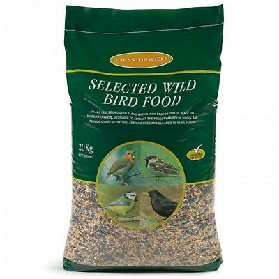 20kg Johnston & Jeff Selected Wild Bird Food All Season Seed Feed Mixture