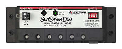 Morningstar SSD-25 SunSaver-Duo 25 Amp 12 Volt Solar Charge Controller