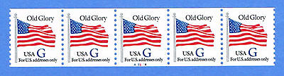 2890 Old Glory Flag 1994 MNH WAG Plate # A3314 PNC  Blue G    5x32c