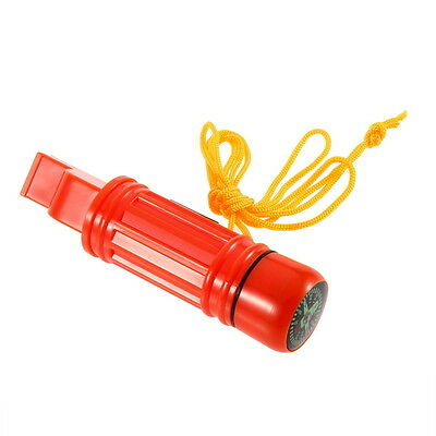 5 in 1 Multi-function Emergency Survival Compass Whistle Camping Tool NEW OK