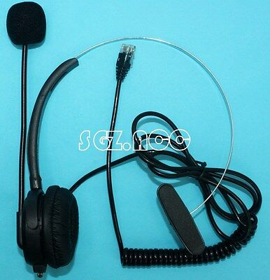 Telephone RJ9 Special A100 Call Center Corded NC Microphone Headset Monaural