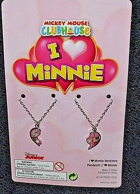 New Mickey Mouse Clubhouse I Love Minnie necklaces.1x Minnie and 1x Daisy Duck