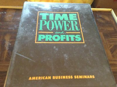 Time, power and profits American business seminar 1988 tape set