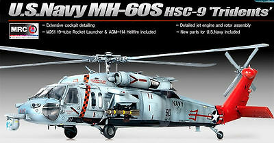 Academy /35 Plastic Model Kit US Navy MH-60S HSC-9 TRIDENTS MRC Model Kit 12120