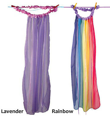 Sarah's Silks Rainbow Lavender Garland Ribbon Veil Dress Up Play Headband 567503