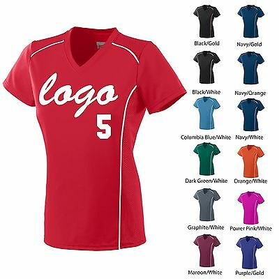 10 Ladies Softball & Soccer Uniforms With One Color Logo, Front And Back Numbers