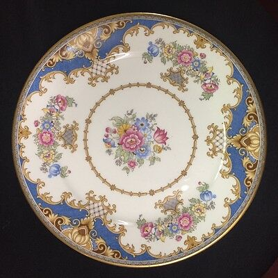 "SHELLEY SHERATON BLUE 13291  LUNCH SALAD DESSERT 8"" PLATE SMOOTH EDGE"