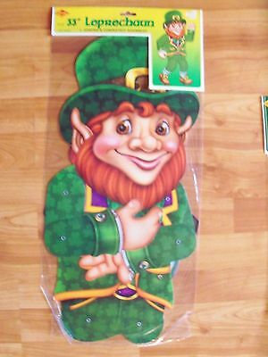 """2002 Beistle 33"""" Jointed St Patrick's Decoration Completely Assembled NOS"""