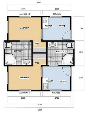Angeli Duplex - 2 Bathroom, 2 bedroom Cabin from Anembo Homes