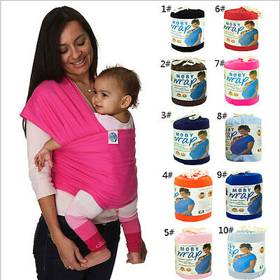 Moby Original Wrap Infant 100% Cotton Newborn Gift Baby Carrier Sling Navy Twins