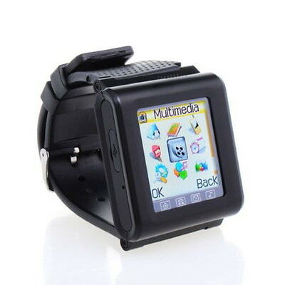FSL Unlocked 1.7 Fashion Style Wrist Mobile Watch Cell Phone GSM Touch Black SC