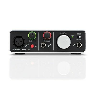 Focusrite iTrack Solo Recording Interface w/ free BassStation & VStation plug in