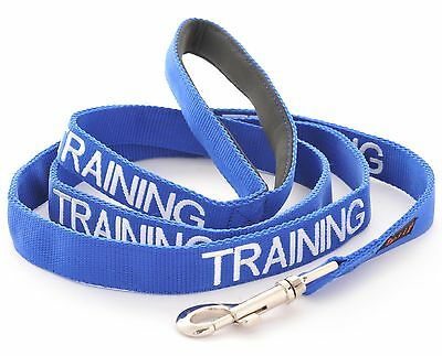 Dogs Leash Color Coded TRAINING Blue Pet Puppy Assistance Aid Heavy Duty  Nylon