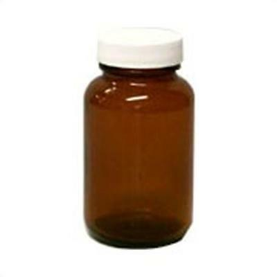 4 oz. Round Amber Spice Jar with Cap and Label 12 count 6050