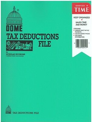 "Dome Tax Deduction File Book - 912 - 9-3/4"" x 11"" - GREEN Cover"