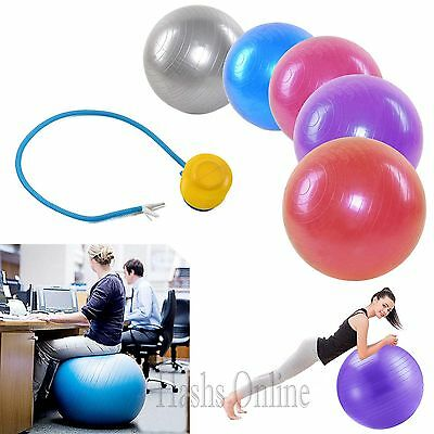 65CM Anti Burst GYM  Yoga Core Body Fitness Exercise Ball Pregnancy Birthing /UK