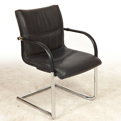 Office Chair /  Armchair  Leather, Chrome, Kusch Co, Retro (Delivery available)