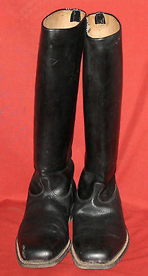 WW2 WWII Bulgarian Leather Military Cavalry Boots