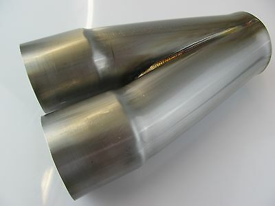 "2 into 1 Stainless Merge header Collector 2""  2.0"" inlet 2 1/2"" 2.5"" out 304"
