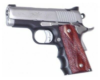 New! Pearce Grips Gun Fits 1911 Compact Model Rubber Finger Groove Insert PGOM1