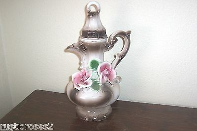 "Capodimonte  Pitcher / Vase,13"" Tall,Marked"