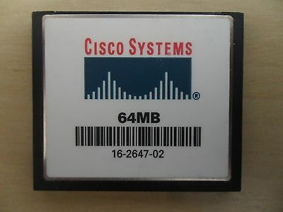 Cisco 64 MB CF Compact Flash Memory Card for 1800 2800 3800 1900 2900 Router