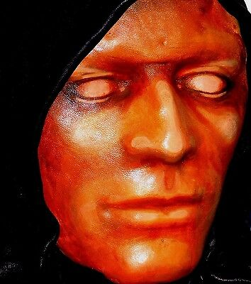 UNUSUAL Ornament Leather HOODED Face Mask-GOTHIC-horror Handmade in the UK