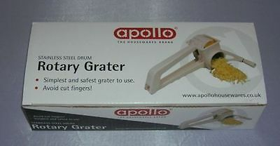 Rotary Cheese Vegetable Grater Hand Held Stainless Steel Drum New