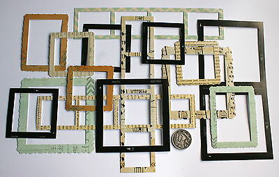 Scrapbooking No 208 - 15 Die Cut Photo Frame Stickers In Mixed Sizes
